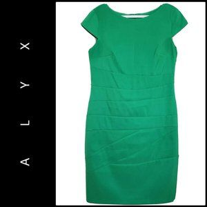 Alyx Woman Sheath Dress Size 10 Green